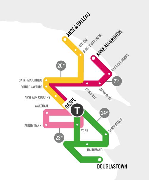 Carte des trajets du FMBM 2015